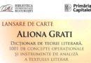 """Lansare de carte – Dicționar de teorie literară. 1001 de concepte operaţionale şi instrumente de analiză a textului literar"""""""