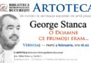 Vernisajul unei expoziții colective inedite de pictură, grafică și sculptură în memoria jurnalistului George Stanca